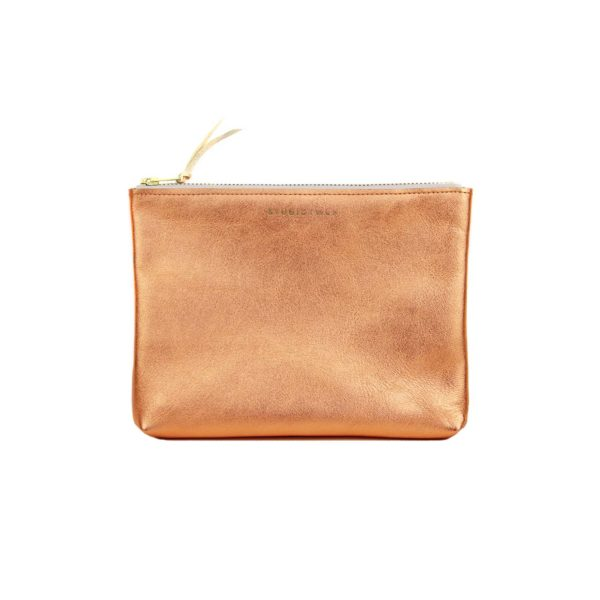 pochette cuir cuivre
